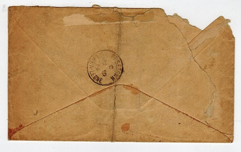 SIERRA LEONE - 1914 TRAVELLING POST OFFICE cover to UK.