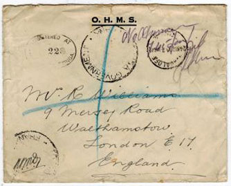 TONGA - 1930 stampless registered O.H.M.S. envelope to UK from NUFUALOFA.