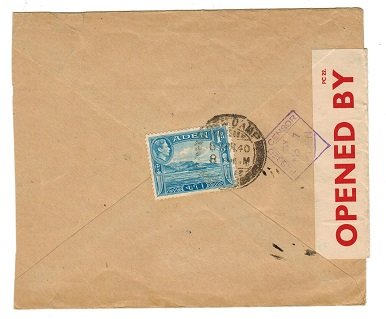 ADEN - 1940 PASSED BY CENSOR/No.7 cover to India.