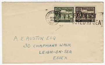 TURKS AND CAICOS IS - 1951 cover to UK via SOUTHAMPTON/PAQUEBOT.