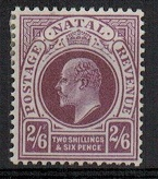 NATAL - 1902 2/6d purple in very fine mint condition.  SG 138.