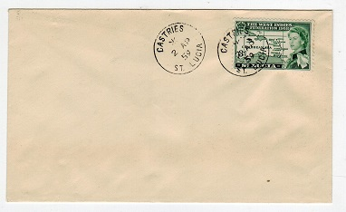 ST.LUCIA - 1959 unaddressed cover from CASTRIES.