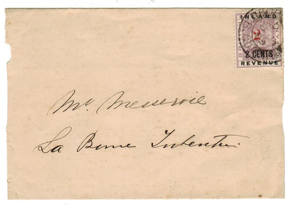 BRITISH GUIANA - 1889 2/2c adhesive used on local cover with DEMERARA RAILWAY cds.