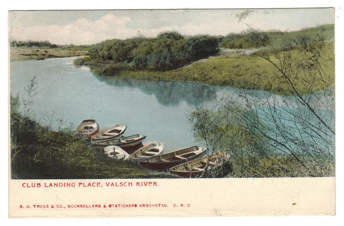 ORANGE RIVER COLONY - 1906 postcard to UK used at KROONSTADT.