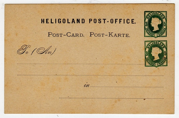 HELIGOLAND - 1875 3f/5pf PSC unused with DOUBLE IMPRESSION.