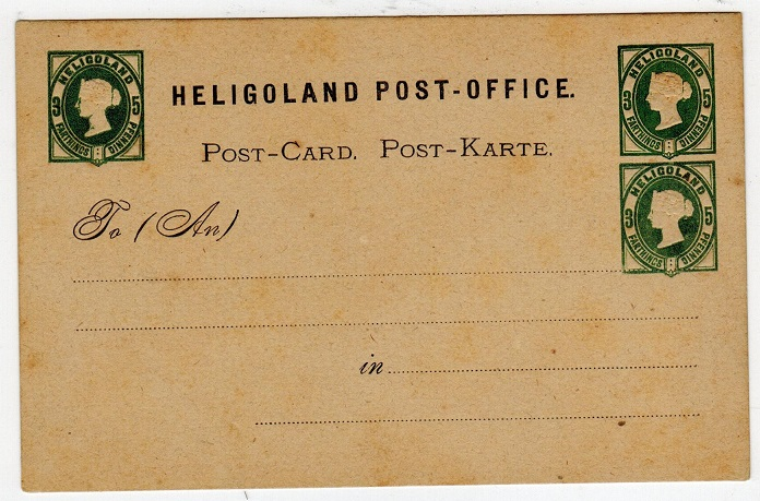 HELIGOLAND - 1875 3f/5pg PSC unused with TRIPLE IMPRESSION.