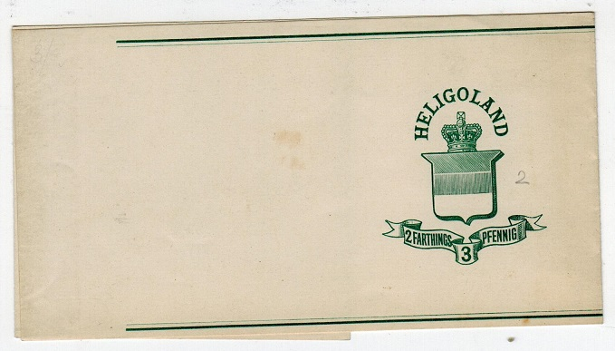 HELIGOLAND - 1878 2f/3pf postal stationery wrapper unused. H&G 1.