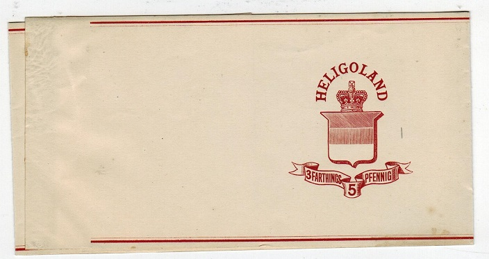 HELIGOLAND - 1878 3f/5pf postal stationery wrapper unused.  H&G 2.