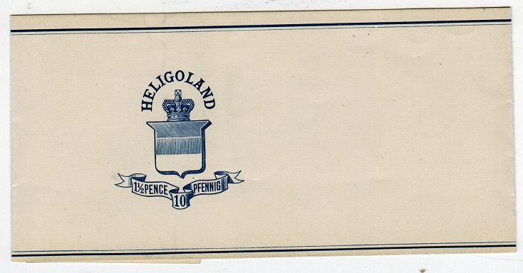 HELIGOLAND - 1878 1 1/2p on 10pf postal stationery wrapper unused.  H&G 3.