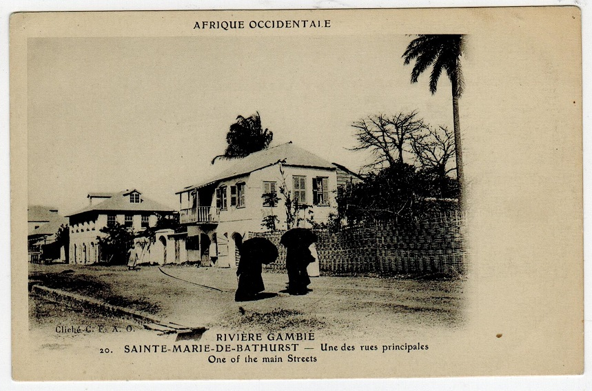 GAMBIA - 1902 (circa) unused postcard.