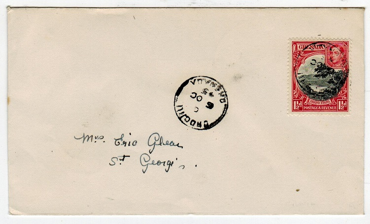GRENADA - 1945 local cover used at CROCHU.
