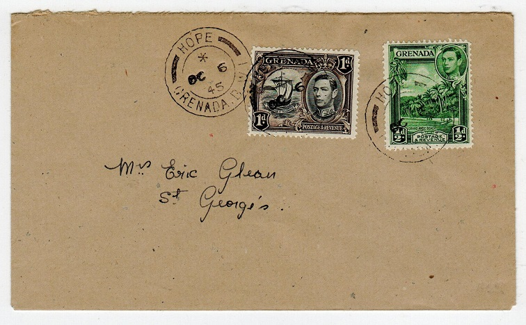 GRENADA - 1945 local cover used at HOPE.