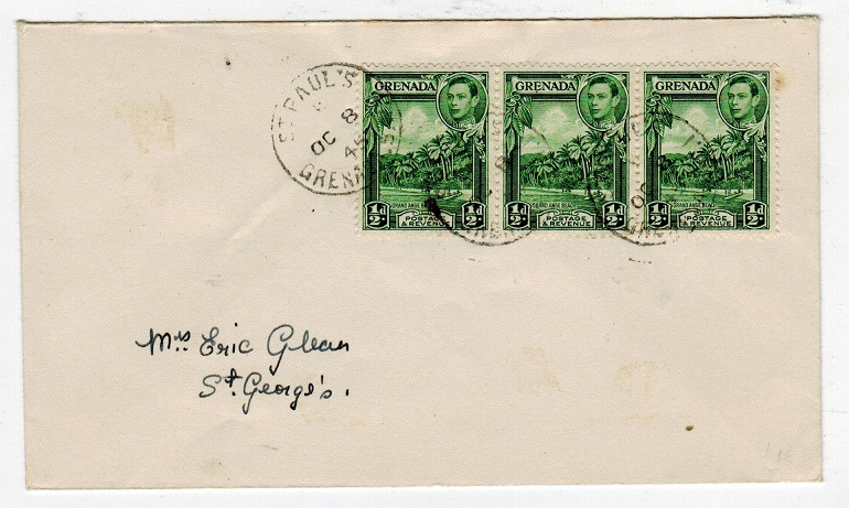 GRENADA - 1945 local cover used at ST.PAULS.
