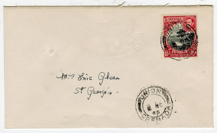 GRENADA - 1945 local cover used at UNION.