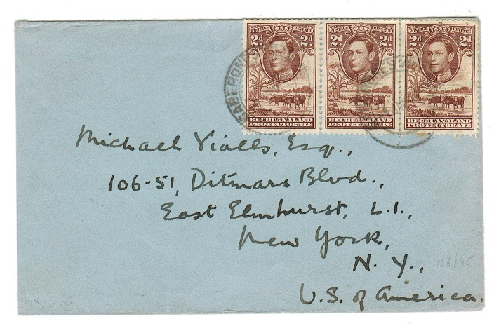 BECHUANALAND - 1945 cover to USA used at GABERONE VILLAGE.