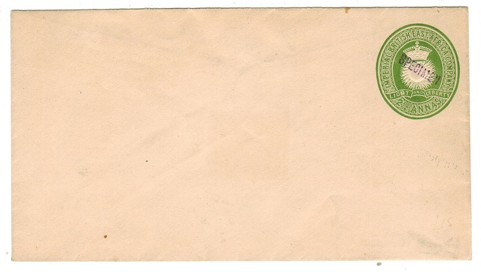 BRITISH EAST AFRICA - 1893 2 1/2d PSE unused handstamped SPECIMEN in violet.  H&G 1.