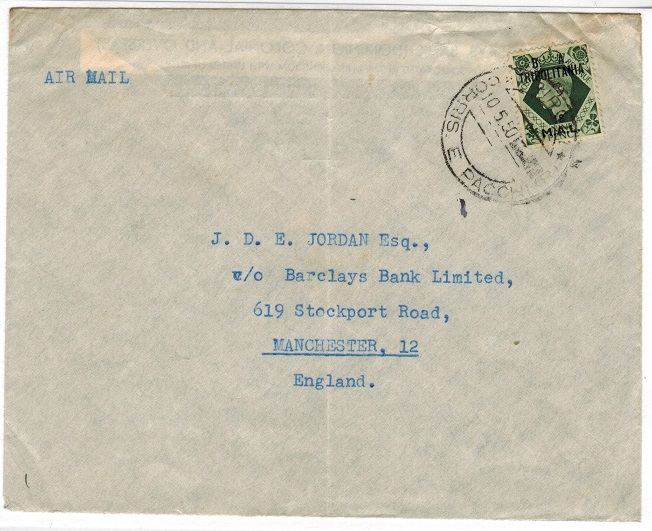 B.O.F.I.C. (Tripolitania) - 1950 cover to UK with 18mal