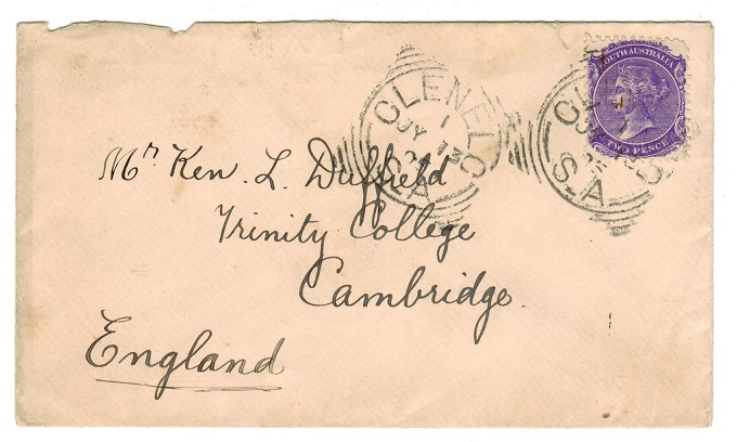 AUSTRALIA (South Australia) - 1895 cover to UK with 2d used at CLENELC.