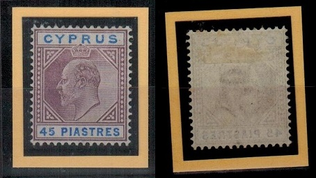 CYPRUS - 1903 45pi adhesive in fine mint condition.  SG 59.