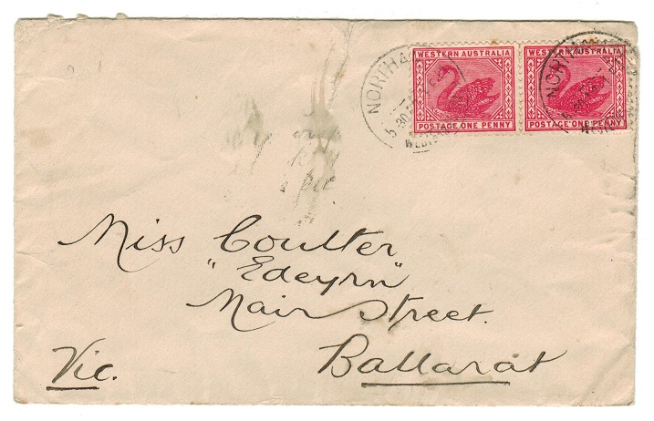 AUSTRALIA (Western Australia) - 1911 2d rate local cover used at NORTHAM.