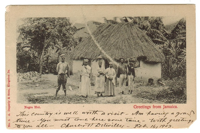 JAMAICA - 1903 postcard to USA cancelled by TITCHFIELD