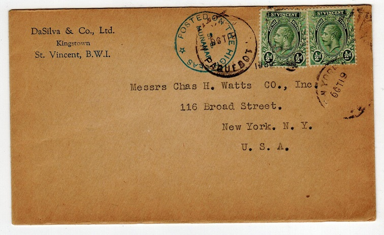 ST.VINCENT - 1930 S.S.MUNAMAR maritime cover addressed to USA.