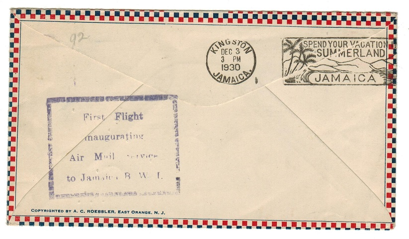 JAMAICA - 1930 first flight cover to Panama.