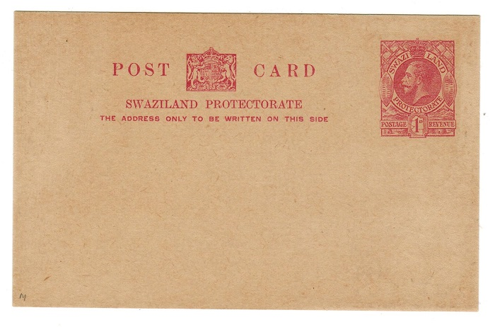 SWAZILAND - 1932 1d PSC unused.  H&G 1.