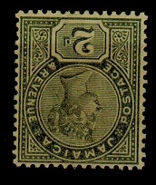 JAMAICA - 1889 2d deep green mint with INVERTED WATERMARK SG 28a.