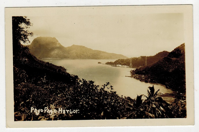 SAMOA - 1935 postcard of Pago Pago harbour. Text but unsent.