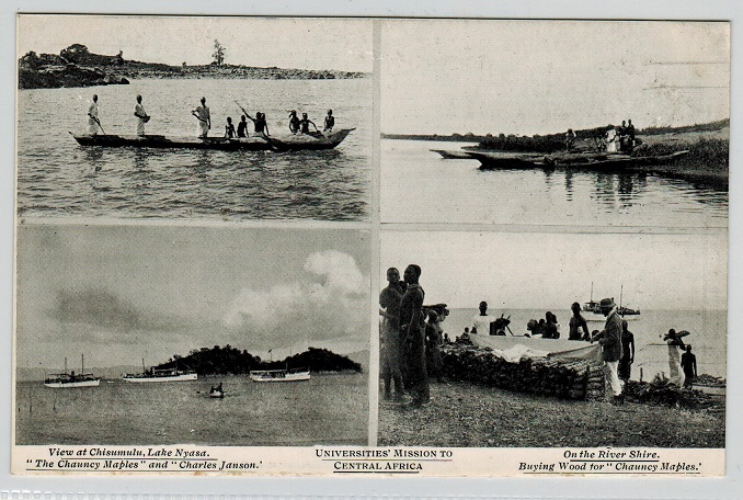 NYASALAND - 1920 (circa) four view unused postcard of Central Africa.