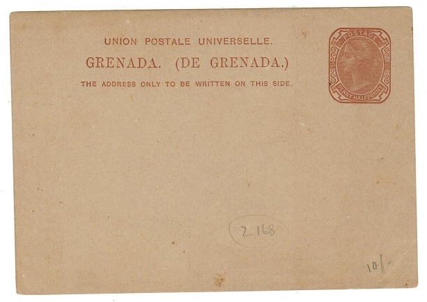 GRENADA - 1881 1 1/2d brown on buff PSC unused. H&G 2.