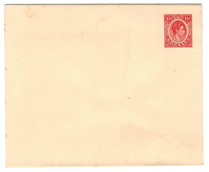 GRENADA - 1938 1 1/2d carmine on cream PSE unused.  H&G 2.