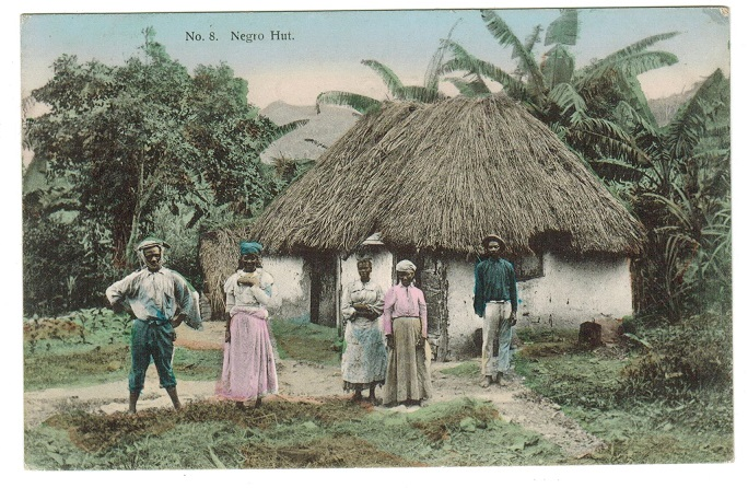 JAMAICA - 1908 1d rate use of postcard to UK used at CONSTANT SPRINGS/JAMAICA.