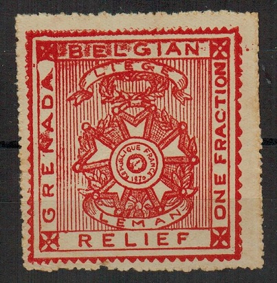 GRENADA - 1915 1/4d BELGIAN RELIEF FUND label.