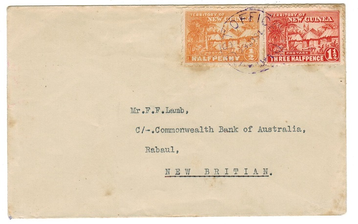 NEW GUINEA - 1931 local cover used at POST OFFICE/WAU.