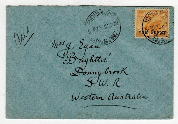AUSTRALIA - 1913 local cover with