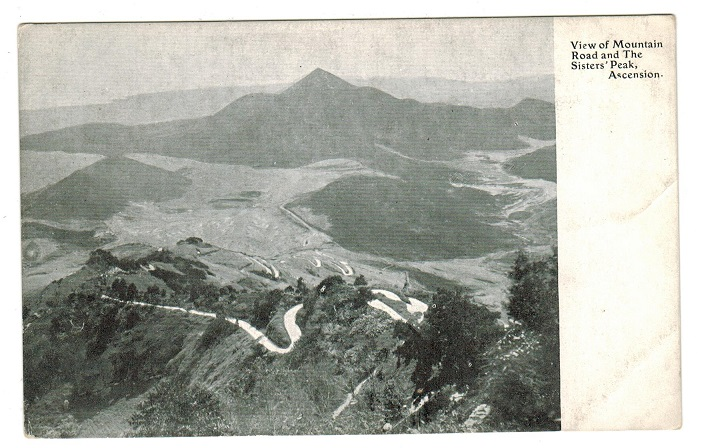 ASCENSION - 1902 (circa) unused postcard depicting VIEW OF MOUNTAIN ROAD.