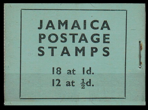 JAMAICA - 1942 2/- BOOKLET (reconstructed).  SG SB10.