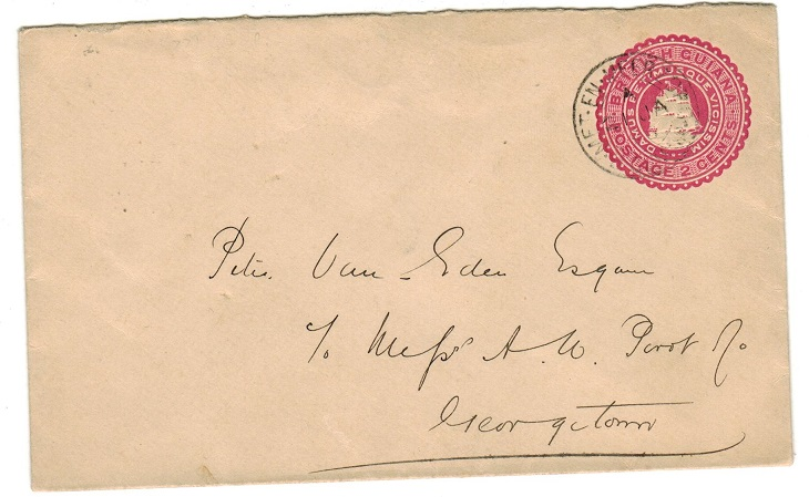BRITISH GUIANA - 1894 2c PSE used locally from MET.EN.MEERZORG.  H&G 2.
