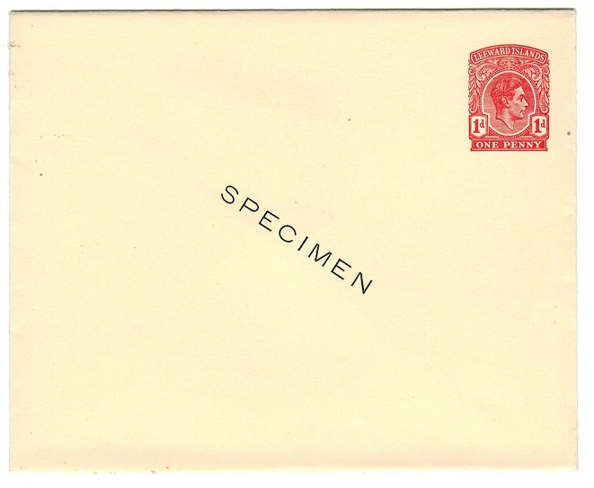 LEEWARD ISLANDS - 1938 1d PSE unused with SPECIMEN in black.
