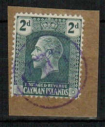 CAYMAN ISLANDS - 1921 2d grey (SG 73) with