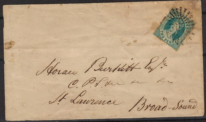 AUSTRALIA (Queensland) - 1870 2d rate