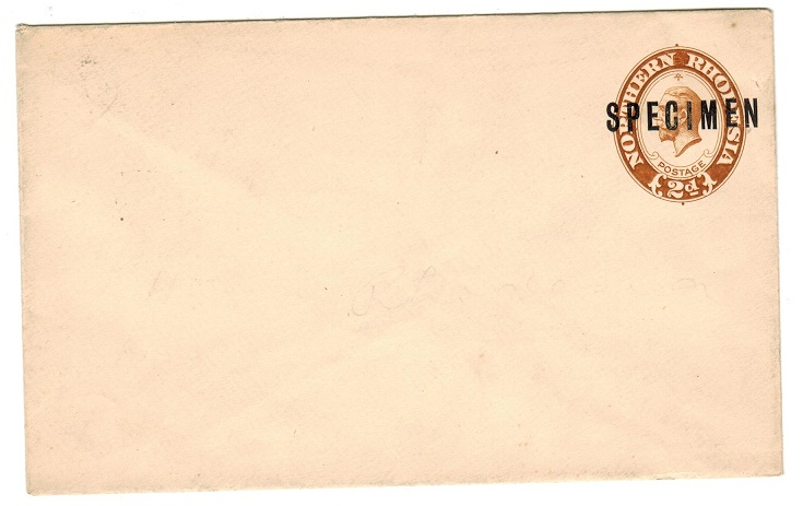 NORTHERN RHODESIA - 1924 2d light brown PSE unused SPECIMEN.  H&G 1a.
