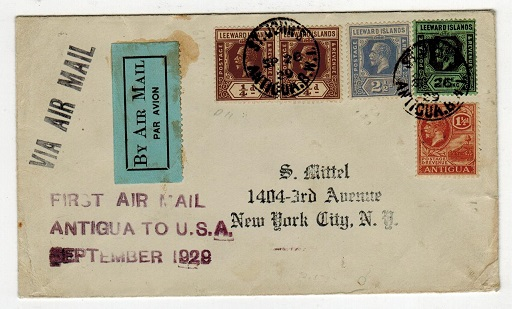 ANTIGUA - 1929 first flight cover to USA from ST.JOHN