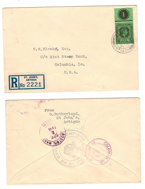ANTIGUA - 1941 Leeward Islands 1/-