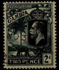GAMBIA - 1922 2d rare
