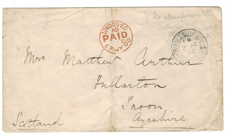 ORANGE RIVER COLONY - 1900 Stampless
