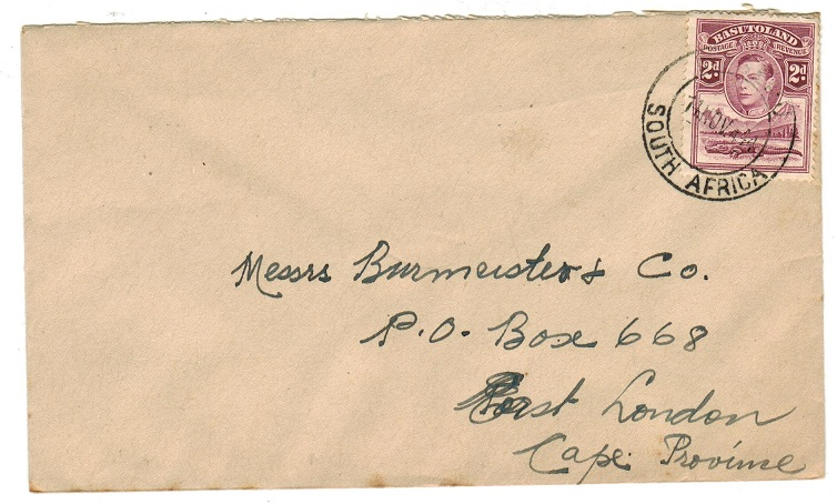 BASUTOLAND - 1944 2d rate cover to Cape cancelled MASERU/SOUTH AFRICA.