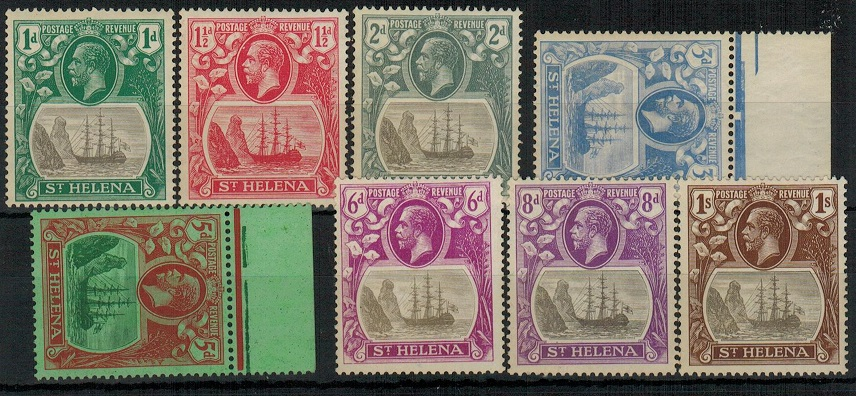 ST.HELENA - 1922-37 1d to 1/-